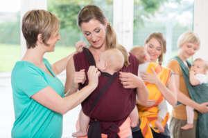 Atelier de portage bébé à Genève