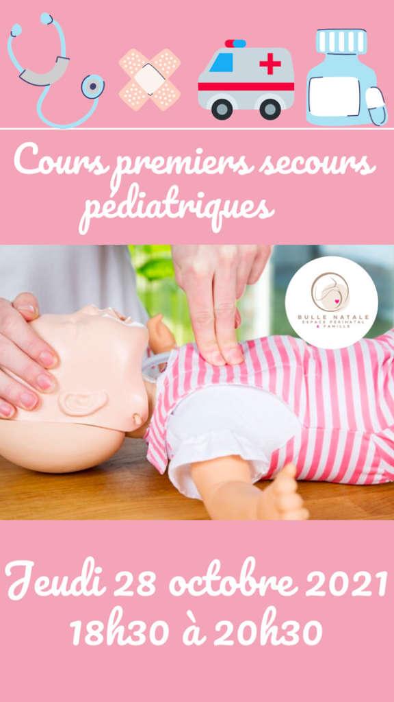 Cours premiers secours pédiatriques